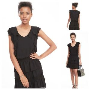 Banana Republic tiered ruffle dress, NWT